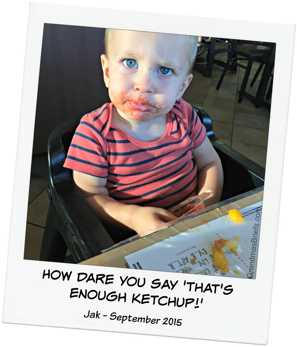 toddler loves ketchup