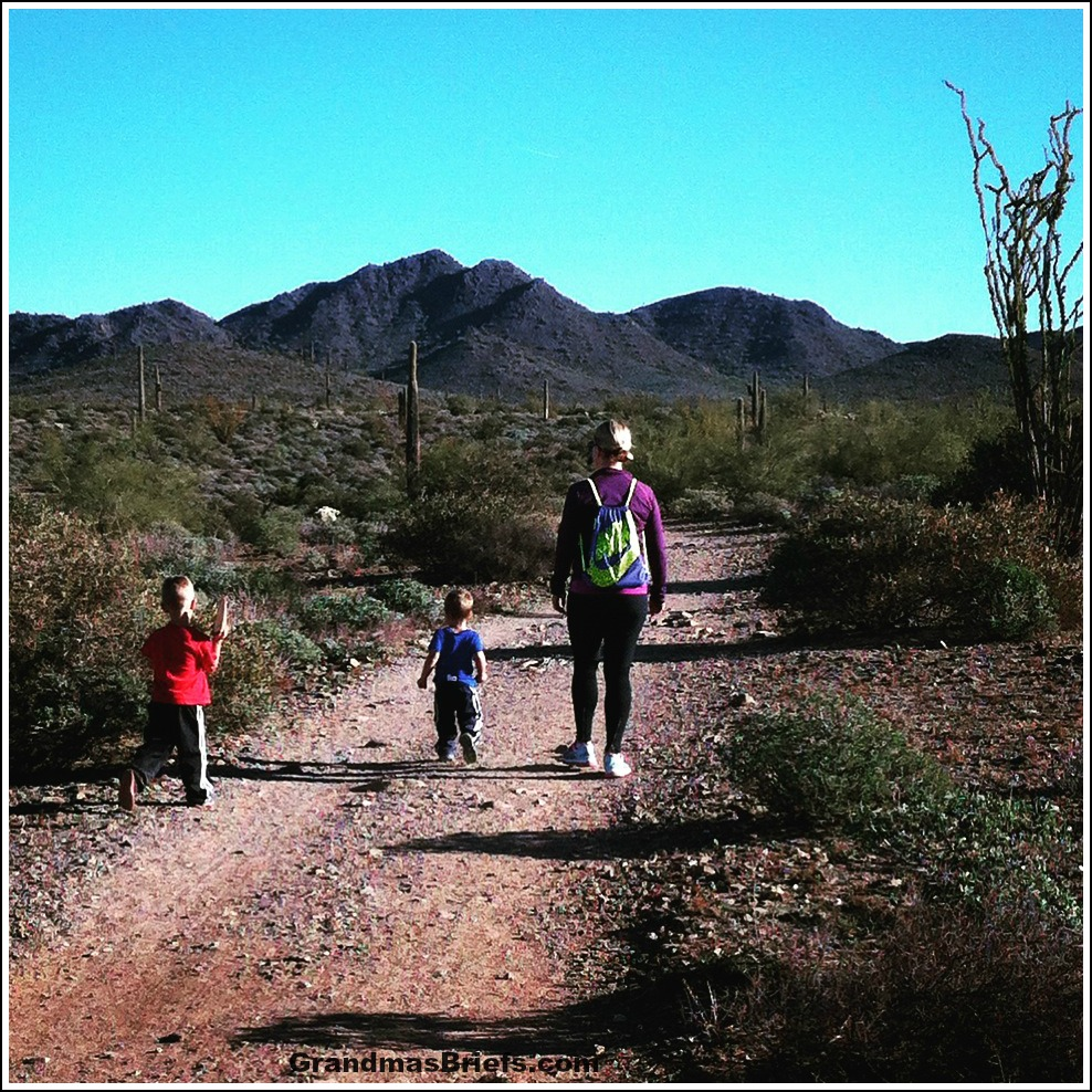 hiking with grandsons