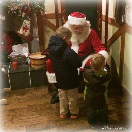 boys visiting Santa