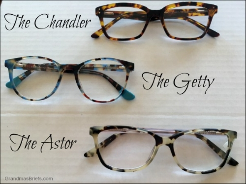 From Readers.com Signature Collection The Chandler for Jim, The Getty and The Astor for me.