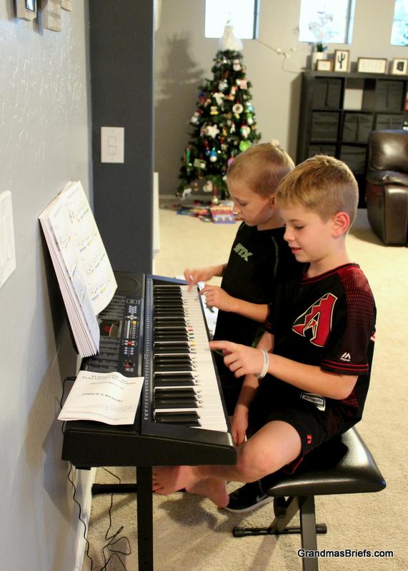 Brayden and Camden attempt a duet