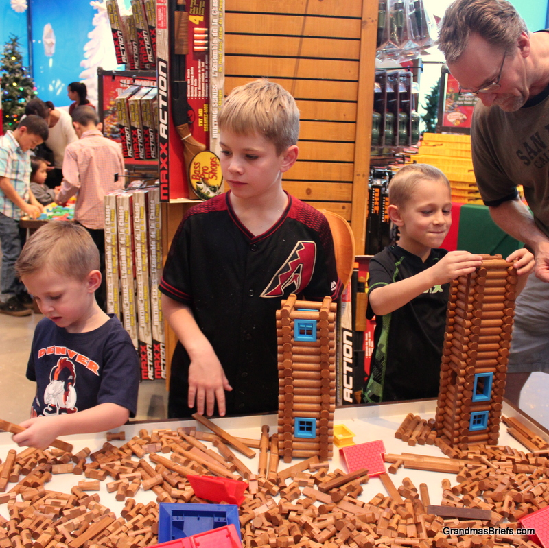 They've never seen so many Lincoln Logs!