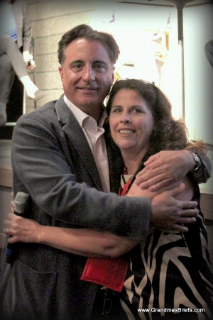 Andy Garcia and me in 2013. (C'mon. How could I pass up sharing this warm-fuzzy moment again?)