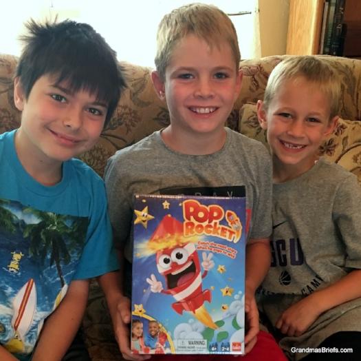 James, Brayden, and Camden present Pop Rocket from Goliath Games