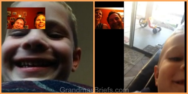 Brayden and Camden chit-chat with PawDad and Gramma