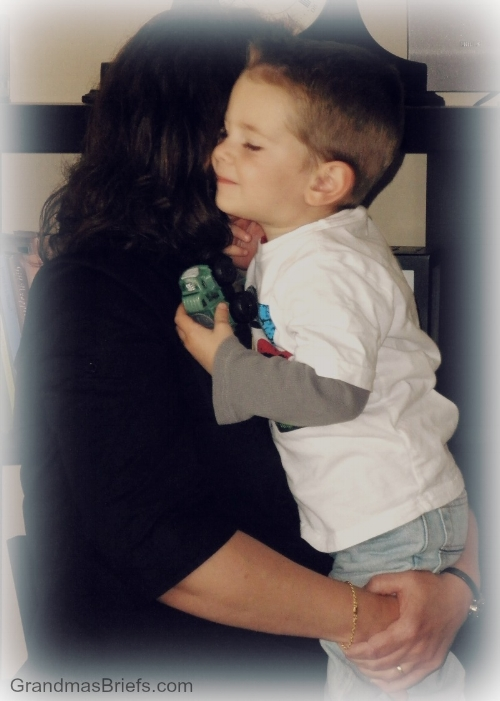 Precious Gramma/Brayden hugs... when B was but a babe!
