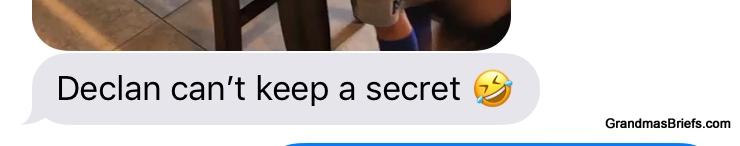 Megan's text regarding truthful Declan.