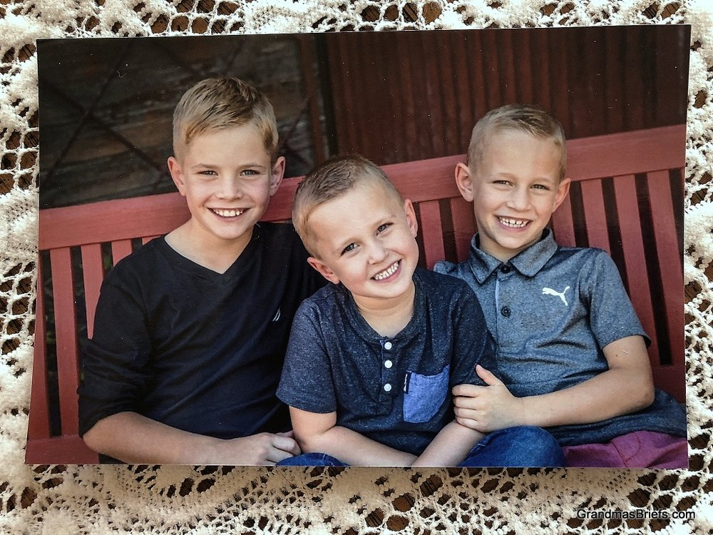 Brayden (10), Declan (4), Camden (7). Be still my heart!