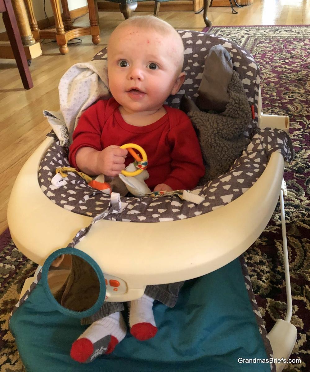 Benjamin demonstrates the activity seat position