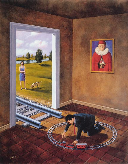 Painting by Rafal Olbinski.