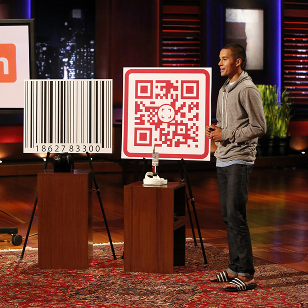 "Garrett on ABC's original series ""Shark Tank""."