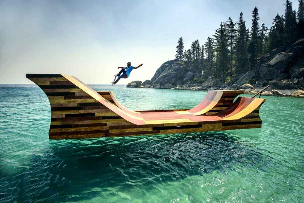 Bob Burnquist in Lake Tahoe. Ramp designed by Jerry Blohm and Jeff King. Made possible by   Visit California  's dream365 initiative.