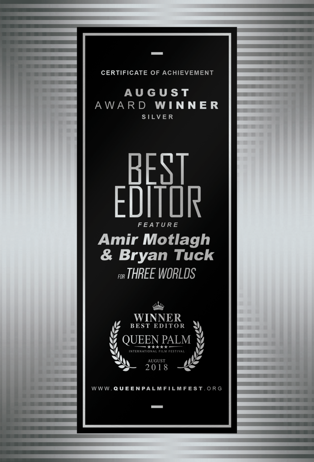 QPIFF SILVER AWARD WINNER CERTIFICATE - BEST EDITOR - FEATURE_FRONT.png