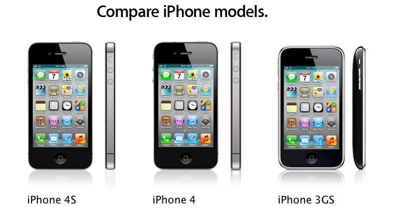 Compare iPhone models 2011