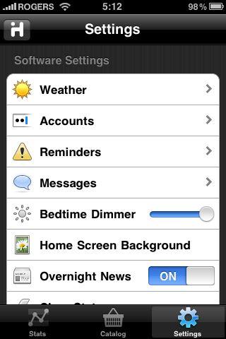 iHome iA5 iHome + Sleep settings