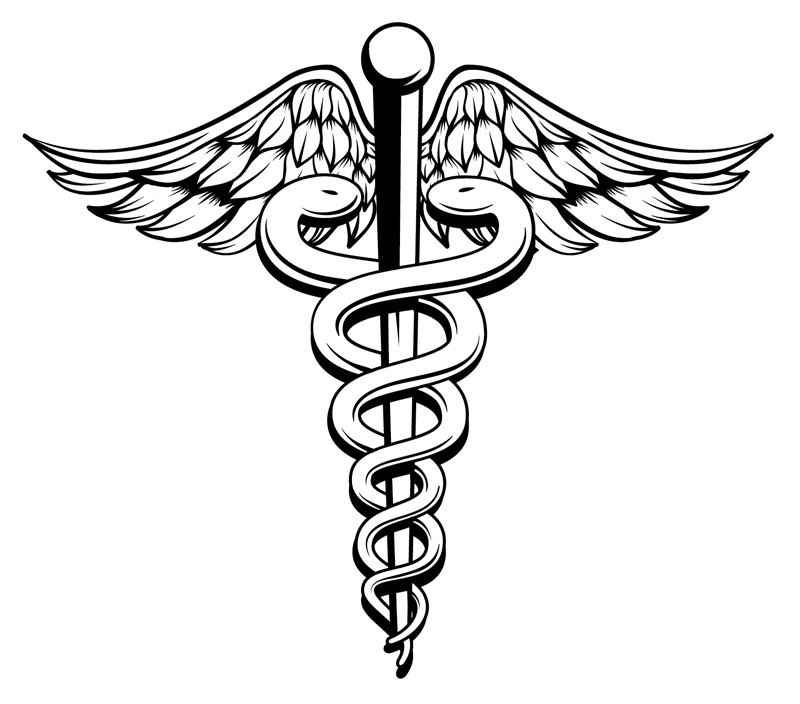 Caduceus - symbol associated with American healthcare