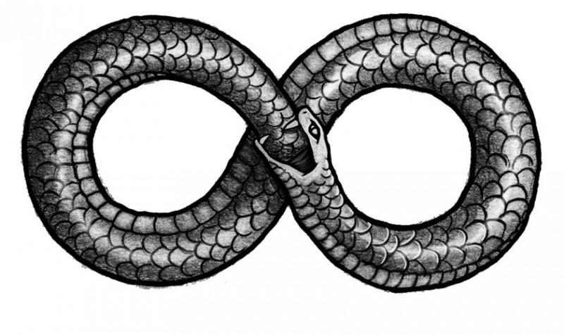 Imaghe: http://mythologian.net/ouroboros-symbol-of-infinity/