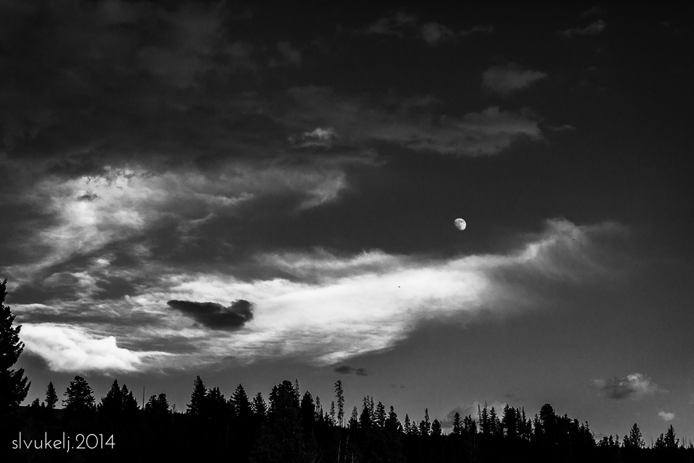 Moonrise - Yellowstone National Park, WY