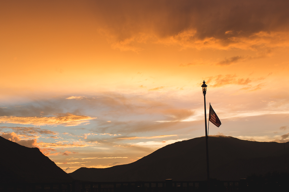 Glenwood Springs at Sunset