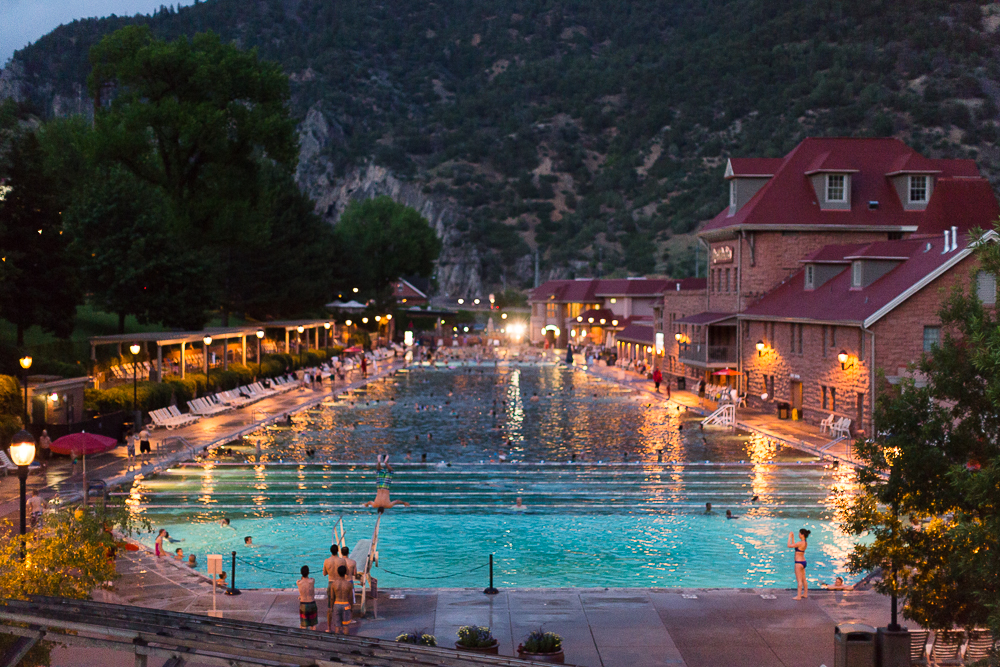 Hot Springs at Dusk
