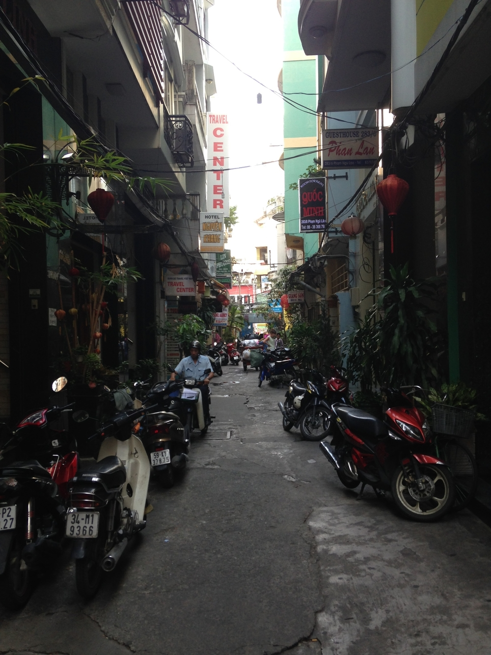 The alley that we were staying in.