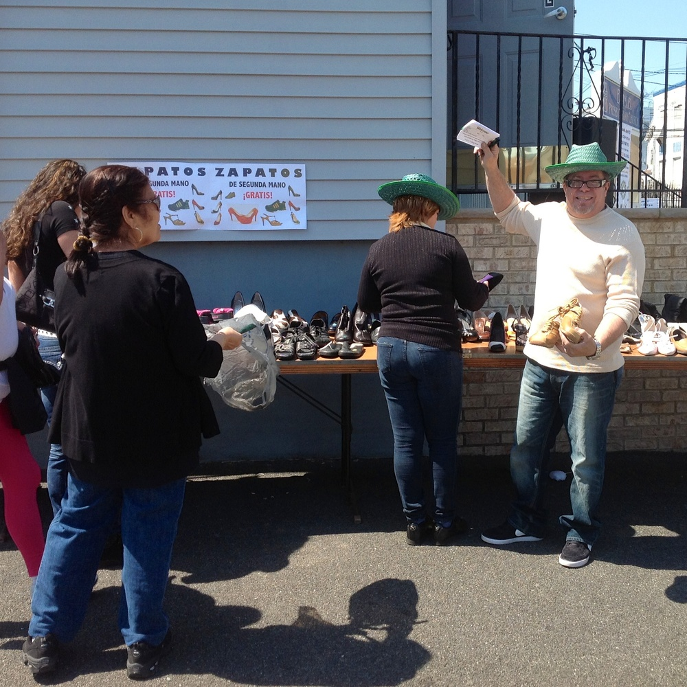 Walk To Church For Shoes at Emanuel Presbyterian in Newark. (Photo: Rolnand Perez)