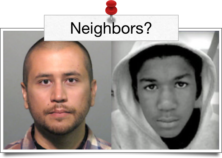 George Zimmerman, photo courtesy of the Washington Post. Trayvon Martin, photo courtesy of the Trayvon Martin Foundation.
