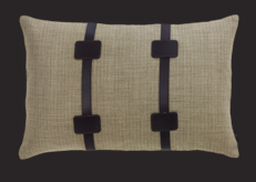 Apache Linen Cushion - Buff Via de La Cuona