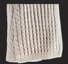 Cable Knit Alpaca Throw - Taupe Via de La Cuona