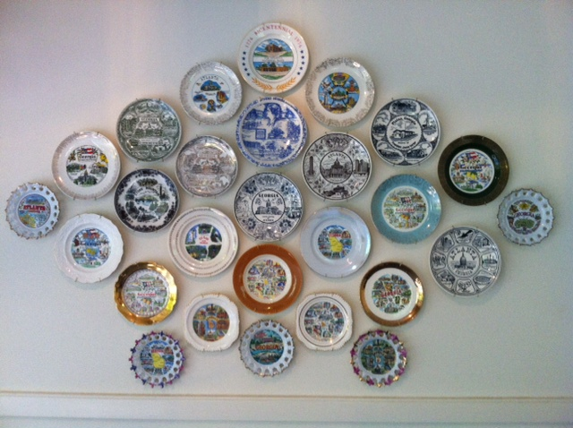 Wall of Kitchy Plates Via Spellacy-Schroeder Interiors