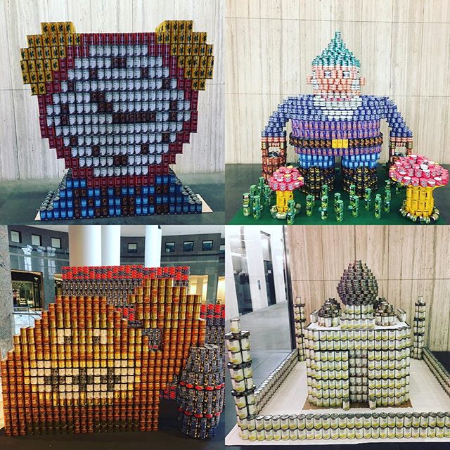 Amazing Canstruction!!! Get in the thanksgiving spirit and donate to your local food bank 🦃#canstruction #spellacyschroederinteriors #designerslife #gobblegobble #letsendhunger