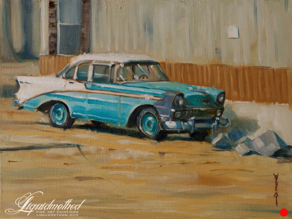 Blue Bel Air - SOLD