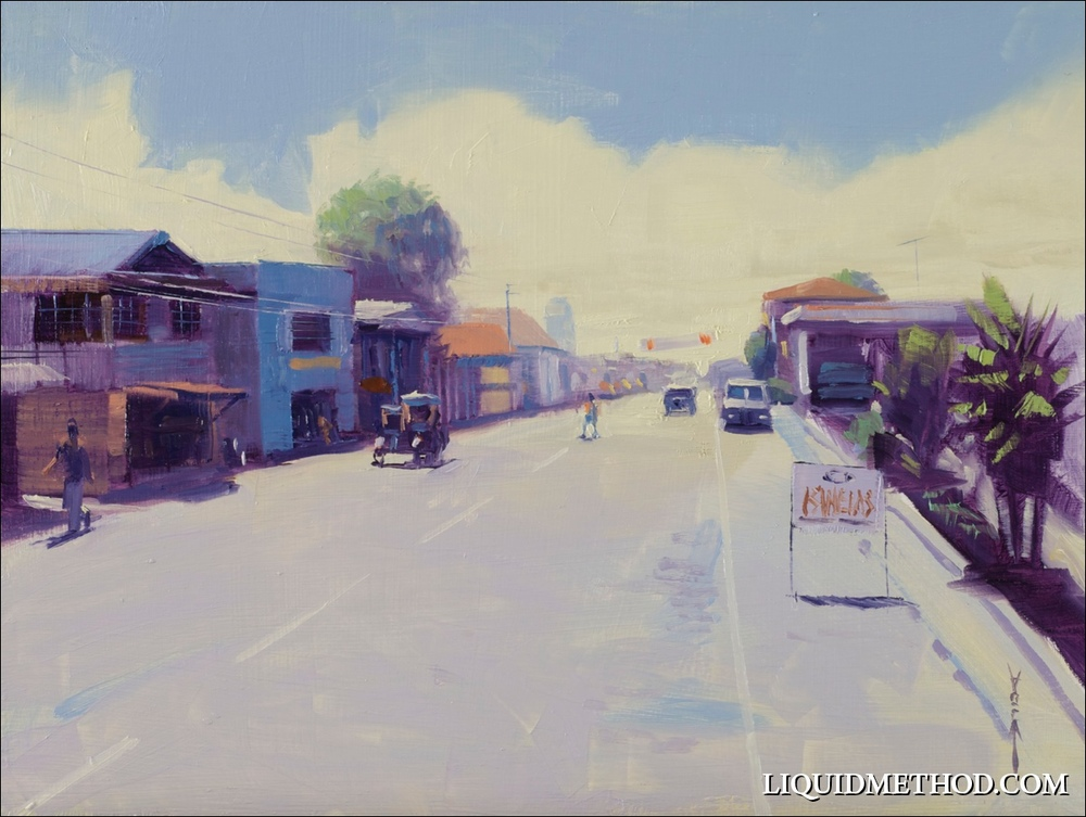 """""""Cavite Sunday Morning"""" 9x12 Oil on Board - Available"""
