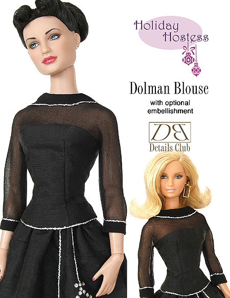 Holiday Hostess Dolman Blouse