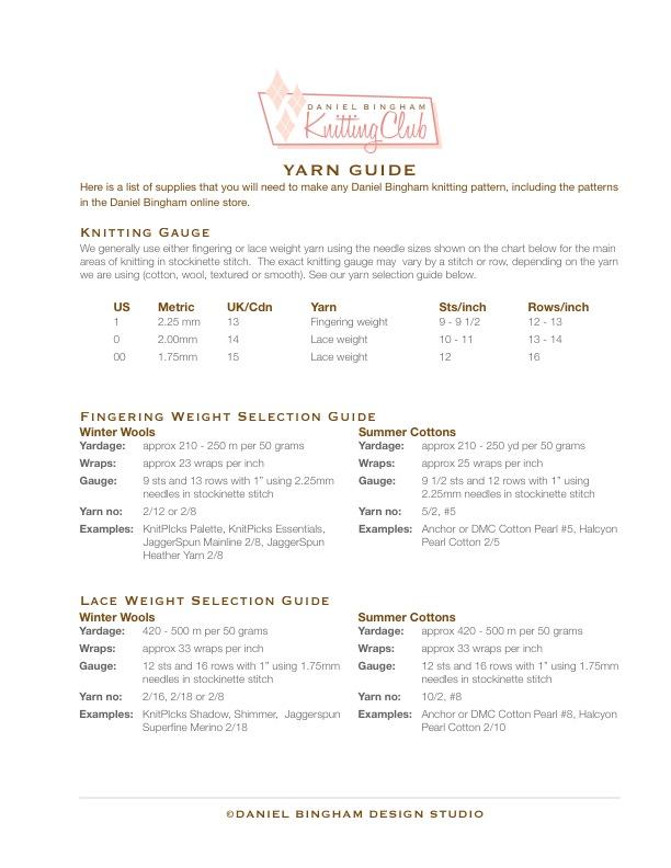 Yarn Guide