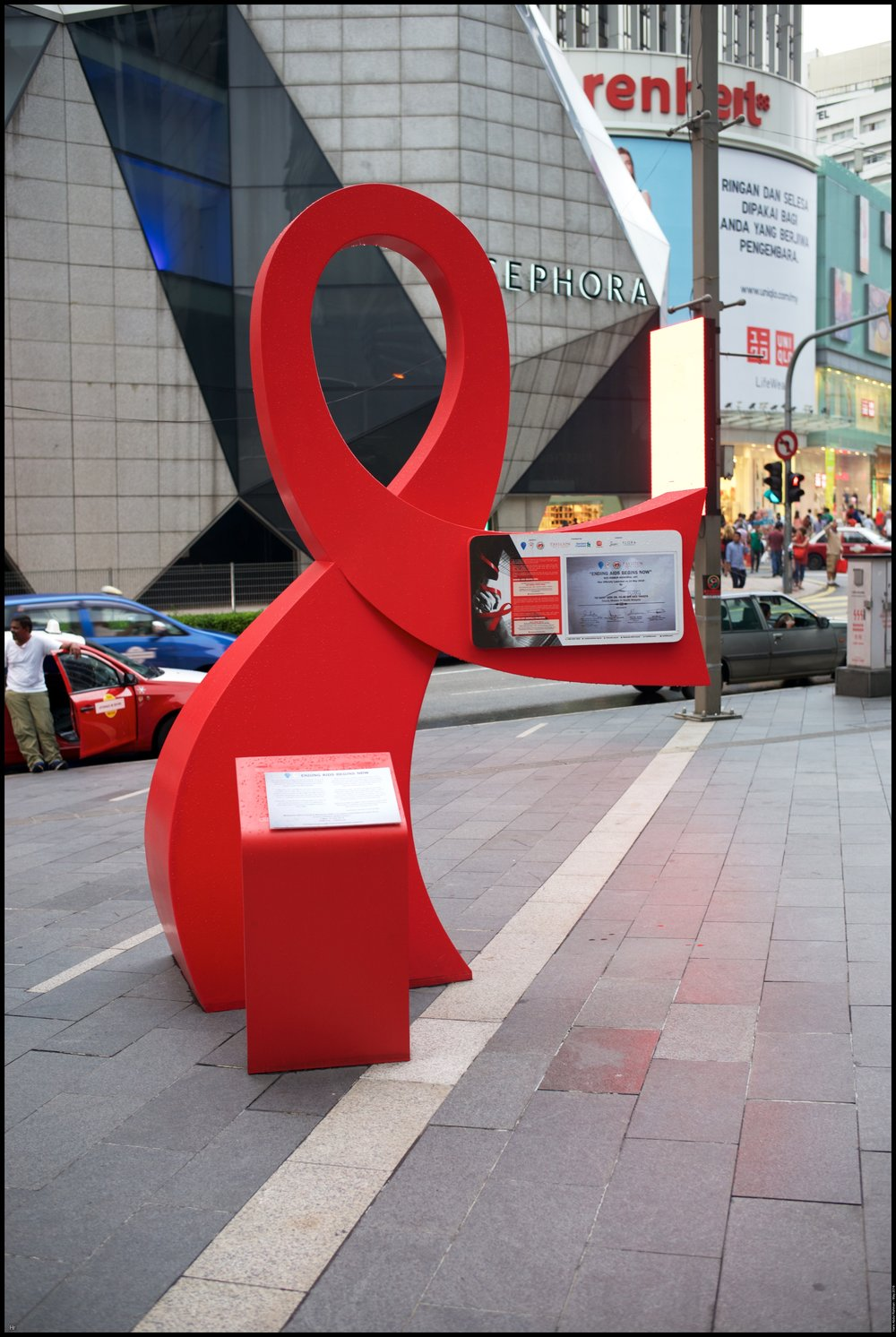 The big ribbon for the HIV week