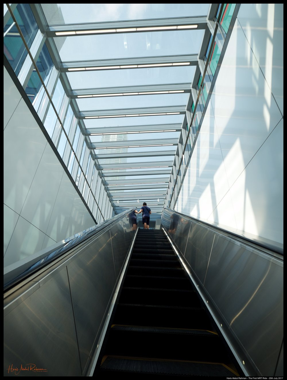 Finally reaching Bukit Bintang. Another escalator up ...