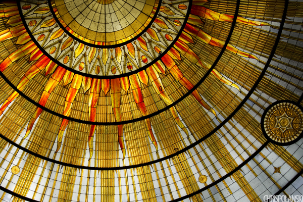 Art Deco Ceiling; Council Chambers at Buffalo City Hall; Buffalo, NY