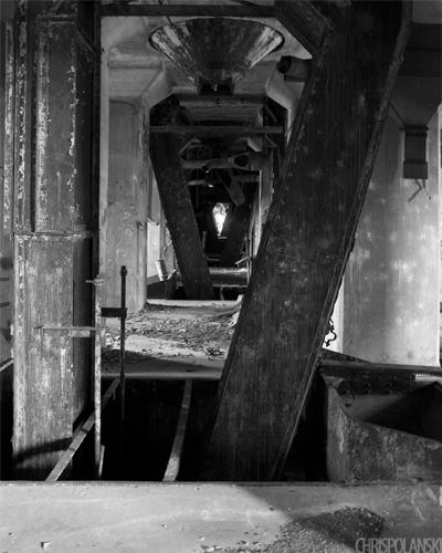 Concrete Central Grain Elevator Interior; Buffalo, NY