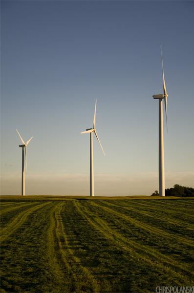 Three Windmills at Bliss Wind Farm; Eagle, NY
