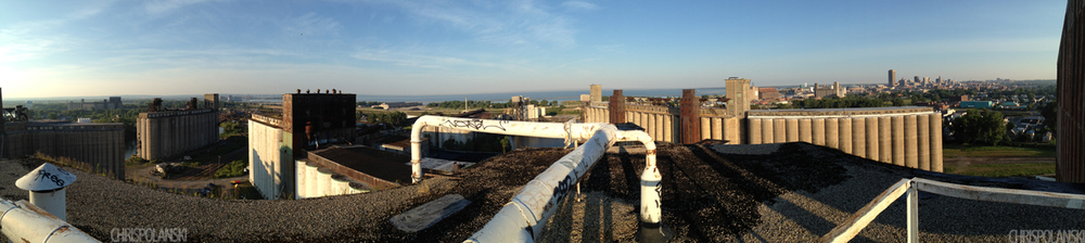 Top of Silo City; Perot Malting Elevator; Buffalo, NY