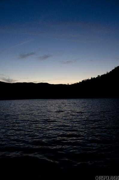 Sunset over Heart Lake; Lake Placid, New York