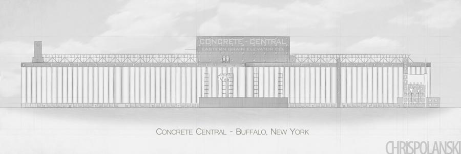 Concrete Central Elevation; 2013