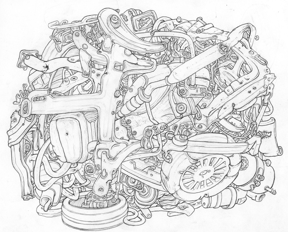 """2013 pencil on paper 9"""" x 11"""""""