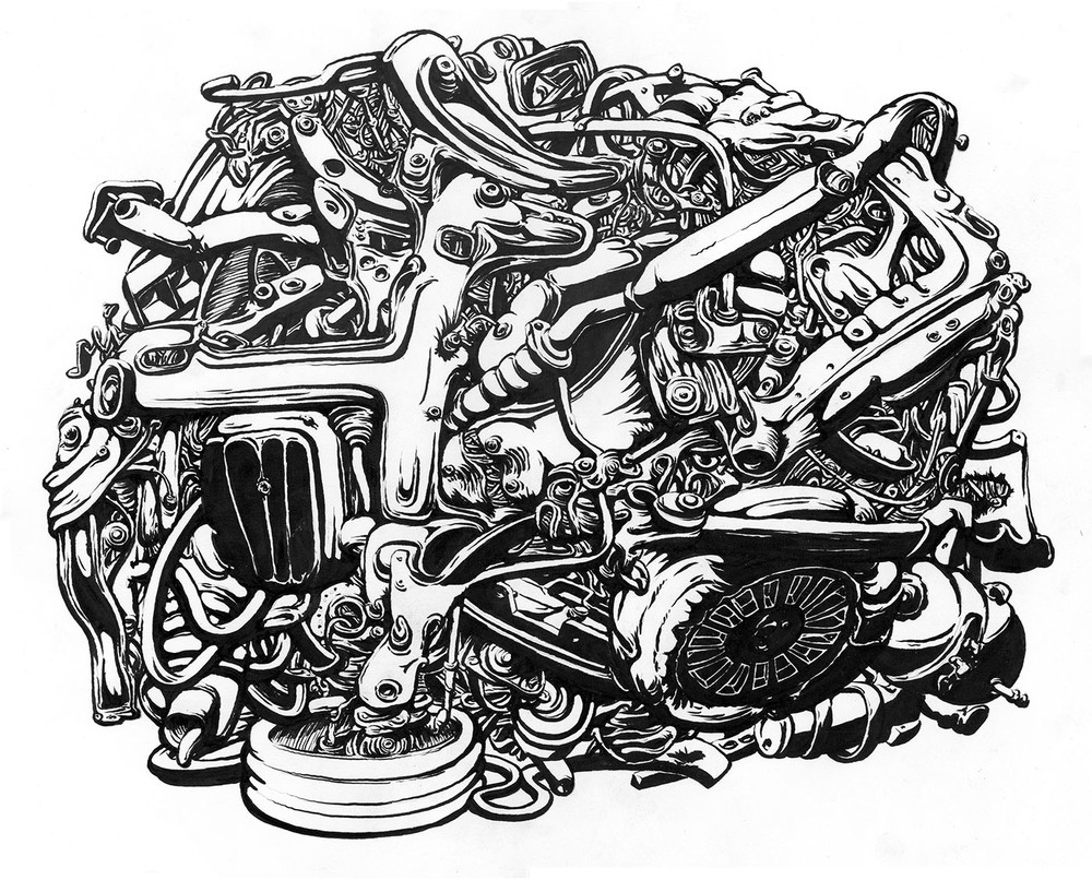 """2013, ink on paper 17"""" x 20"""""""