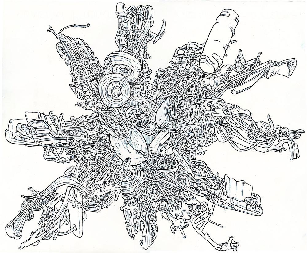 """2013 pen & ink 15""""x 18"""""""