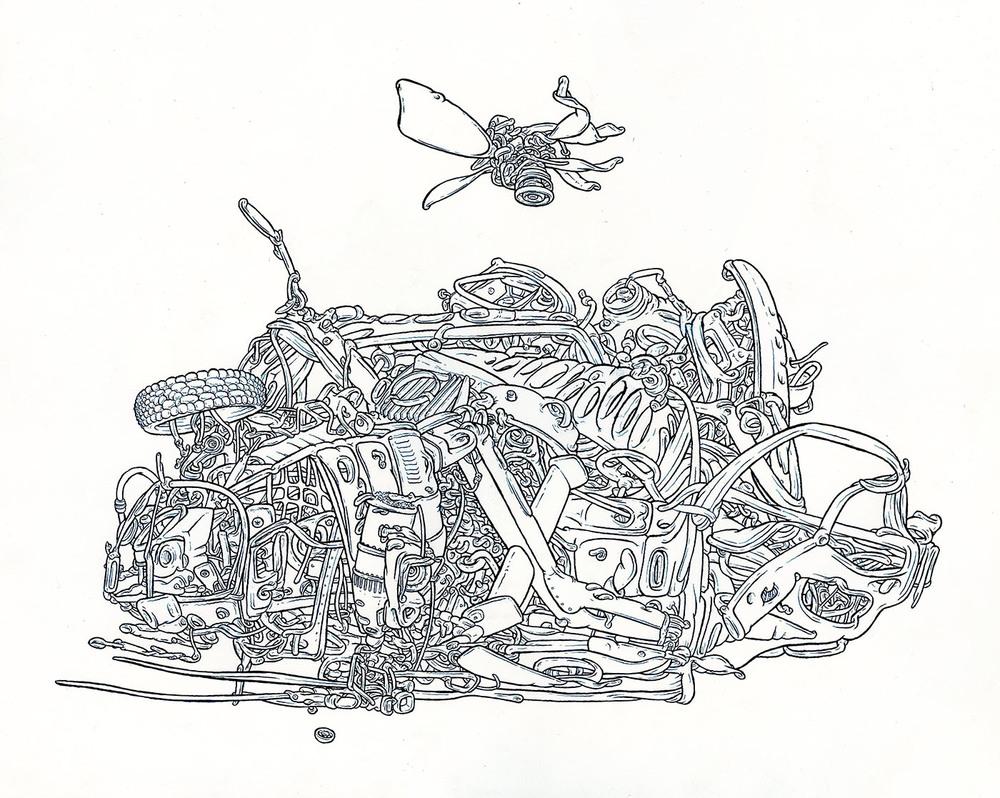 """2013 pen & ink 15"""" x 18"""""""