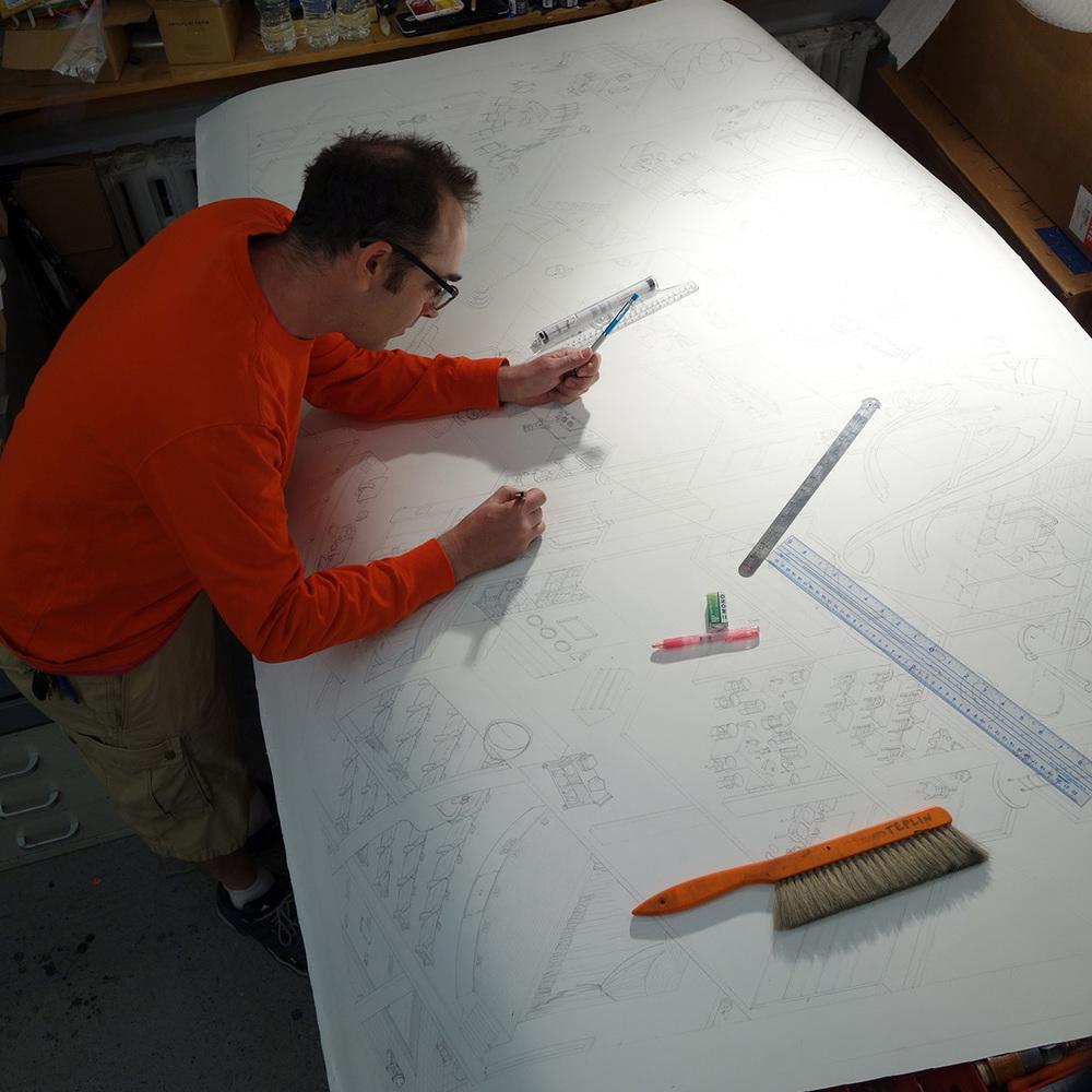 me, drawing BS