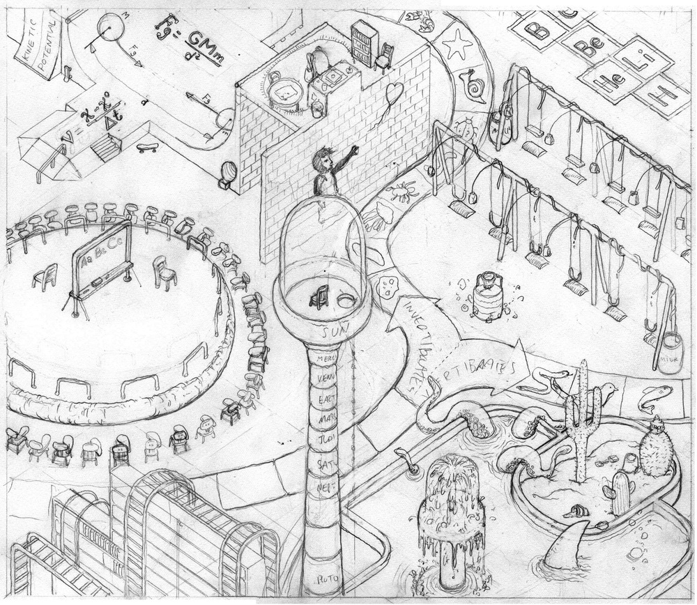 Study for playground, pencil