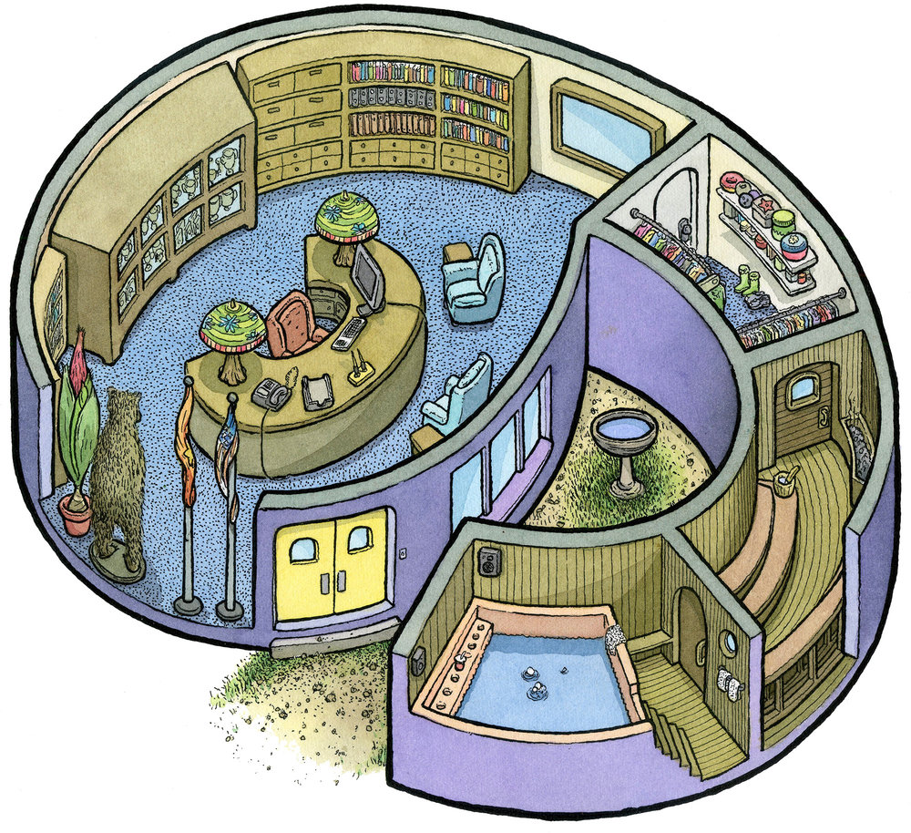 9: Principal's Office/Secret Spa
